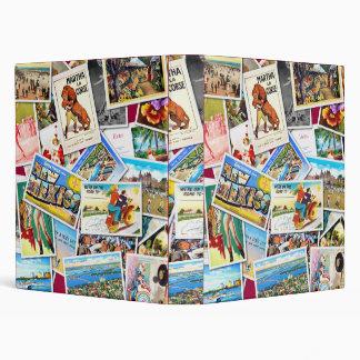 Vintage Post Card Collage Binder