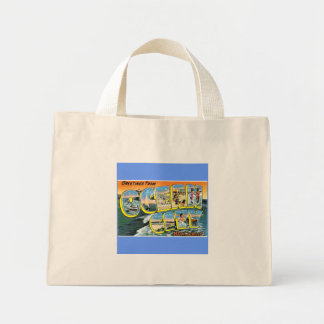 Vintage Post Card - Ocean City Mini Tote Bag