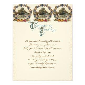 Vintage Post Card Thanksgiving Turkey Invitations