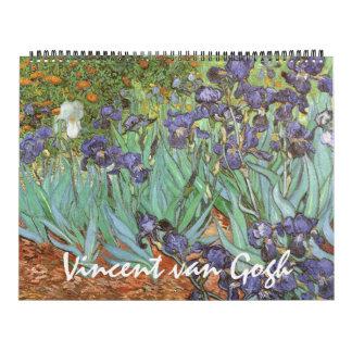 Vintage Post Impressionism by Vincent van Gogh Calendar