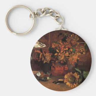 Vintage Post Impressionism, Hope by Paul Gauguin Basic Round Button Keychain