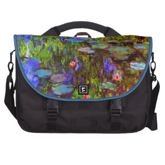 Vintage Post Impressionism- Monet -Water Lilies Bags For Laptop