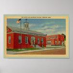 Vintage Post Office, Makepeace Bldg., Wareham, MA Poster