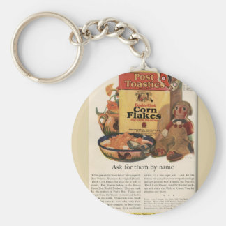 Vintage Post Toasties Ad Keychain