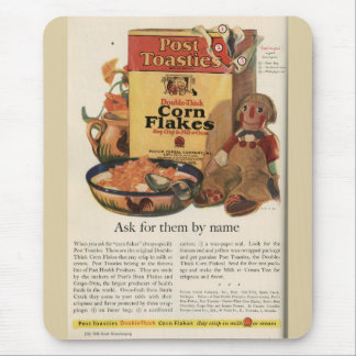 Vintage Post Toasties Ad Mouse Pad