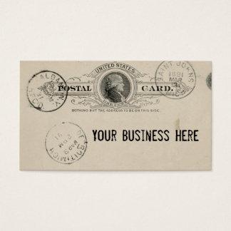 Vintage Postage Postcard Business Card