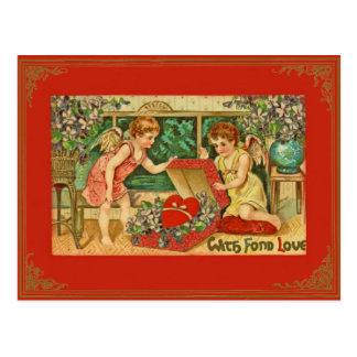 Vintage/postal antigua de la tarjeta del día de Sa