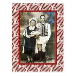 Vintage, postal, casando los pares 1910