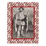 Vintage, postal, cazador de las montañas 1889