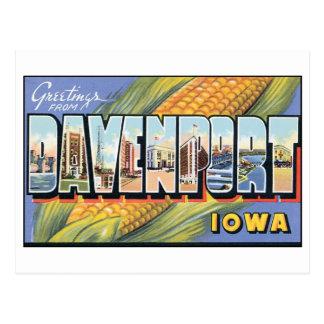 Vintage postal de Davenport Iowa