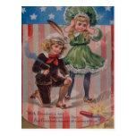 Vintage postal del 4 de julio