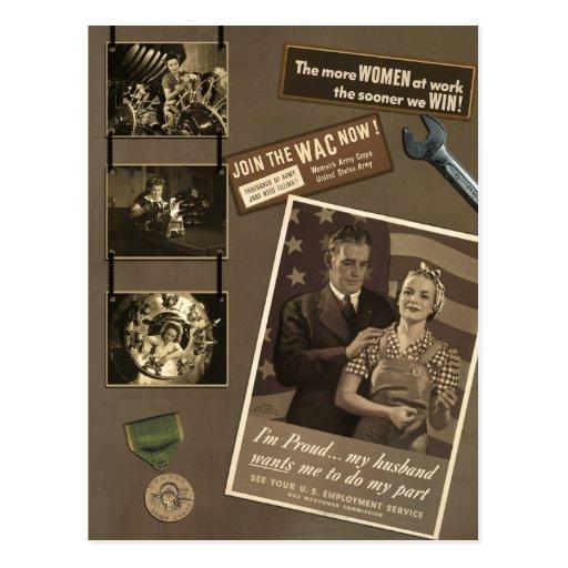 """Vintage """"postal del libro de recuerdos de la mujer"""