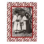 Vintage, postal, par campesino 1905