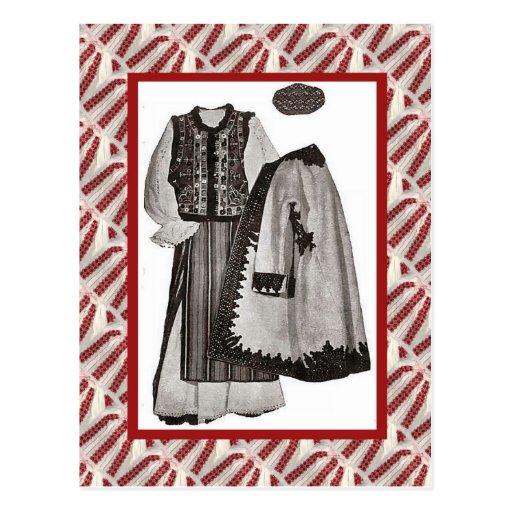 Vintage, postal, ropa 1900 de las señoras