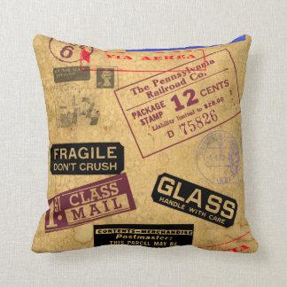 Vintage postal y almohada de MoJo del americano de