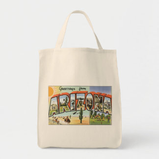 Vintage Postcard Arizona Greetings Tote Bag