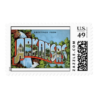 Vintage Postcard Arkansas Greetings Postage