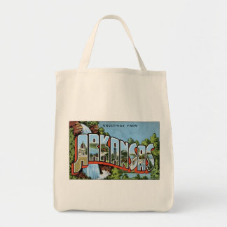 Vintage Postcard Arkansas Greetings Tote Bag
