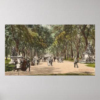 Vintage Postcard Central Park New York City Poster