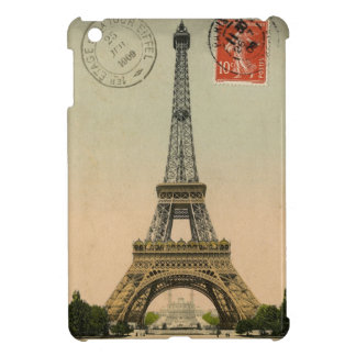 Vintage Postcard Eiffel Tower Paris iPad Mini Case