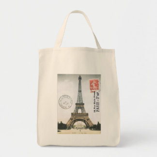 Vintage Postcard Eiffel Tower...tote bag
