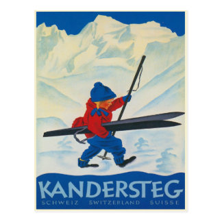 Vintage Postcard from the Swiss Alps
