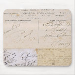 Vintage Postcard Handwriting Mousepad