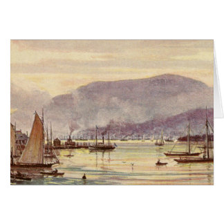 Vintage Postcard Hobart, Tasmania, Australia Stationery Note Card