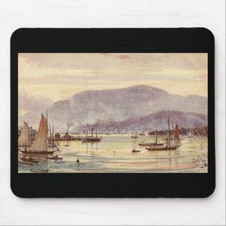 Vintage Postcard Hobart, Tasmania, Australia Mouse Pad
