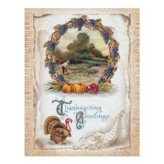 Vintage Postcard Holiday Turkey Flyer
