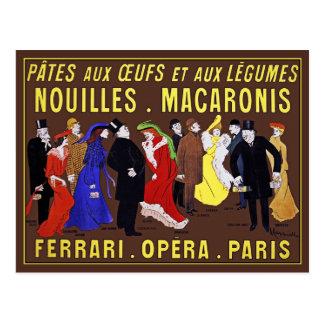 Vintage Postcard: Leonetto Cappiello - Pâtes aux O Postcard