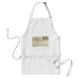Vintage postcard mailed from Romania to USA Adult Apron