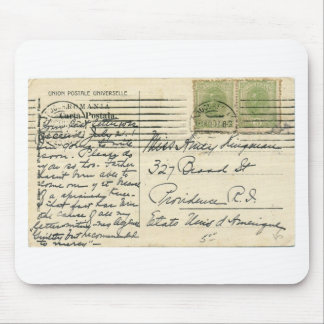 Vintage postcard mailed from Romania to USA Mouse Pad