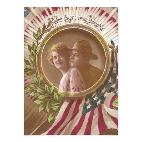Vintage Postcard:Never Far Card