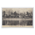 Vintage Postcard North Beach Maryland Poster