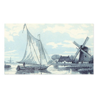 Vintage Postcard of a scene in Holland Business Card
