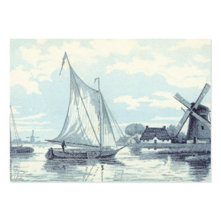 Vintage Postcard of a scene in Holland Large Business Card