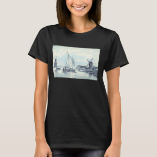 Vintage Postcard of a scene in Holland T-Shirt