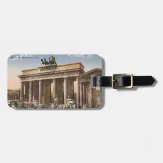 Vintage Postcard of Brandenburger Tor Berlin Bag Tag