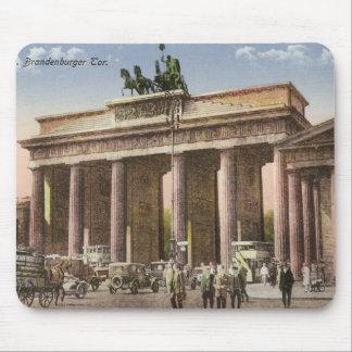 Vintage Postcard of Brandenburger Tor Berlin Mouse Pad
