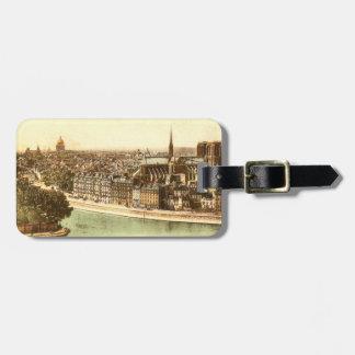 Vintage Postcard of Paris Luggage Tag