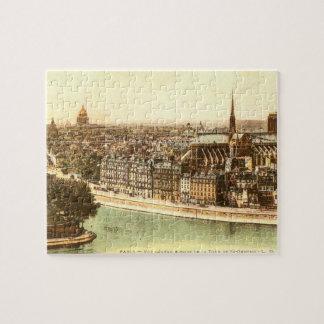 Vintage Postcard of Paris Puzzle