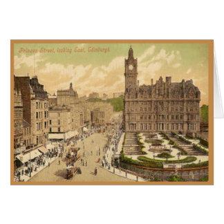 Vintage Postcard of Princes Street, Edinburgh