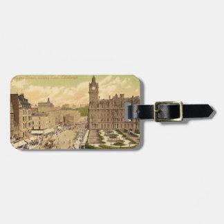 Vintage Postcard of Princes Street, Edinburgh Luggage Tag