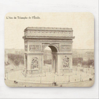 Vintage Postcard of the Arc de Triomphe de l'Etoil Mouse Pad