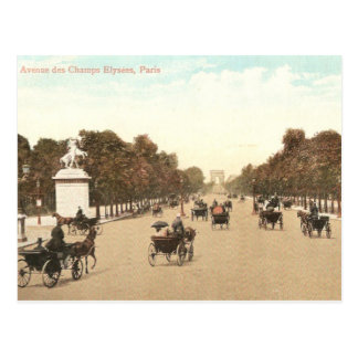Vintage postcard of the Champs de Elysee