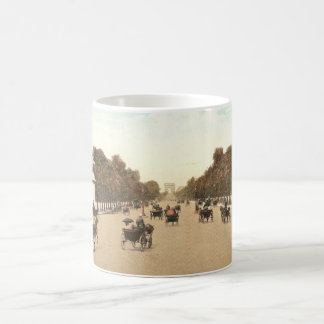 Vintage postcard of the Champs de Elysee Coffee Mug