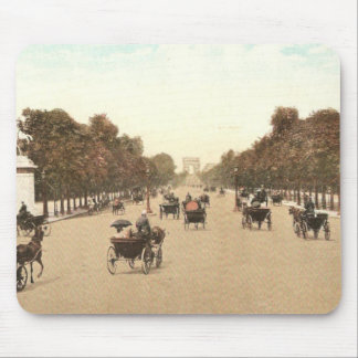 Vintage postcard of the Champs de Elysee Mouse Pad