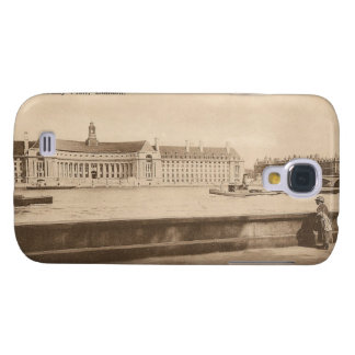Vintage Postcard of The County Hall, London Galaxy S4 Cover