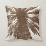 Vintage Postcard style Palm Tree Pillow